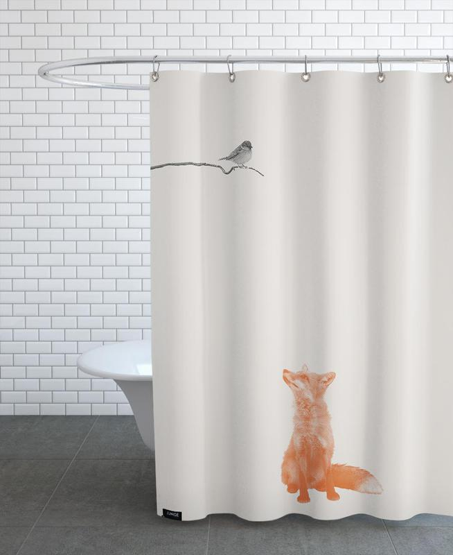 Bird And Fox Shower Curtain