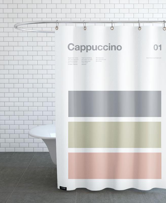 Kaffee, Cappuccino -Duschvorhang
