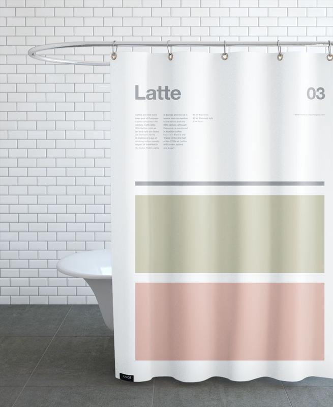 Kaffee, Latte -Duschvorhang