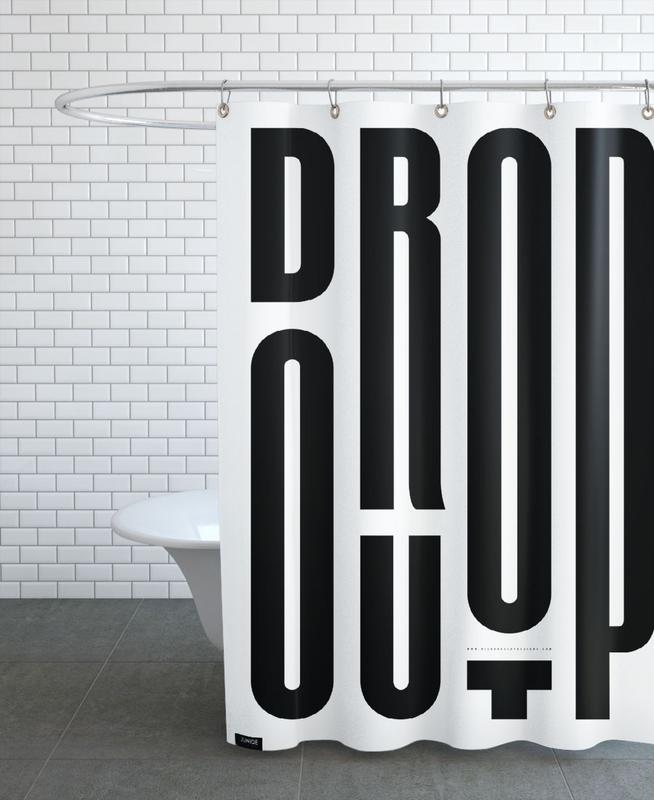 Drop Out Shower Curtain