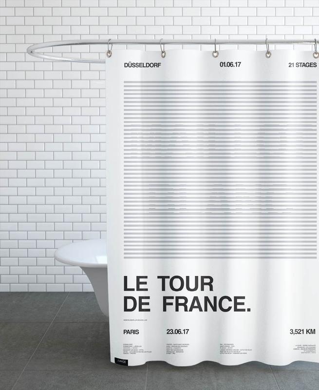 Maillot Blanc Shower Curtain