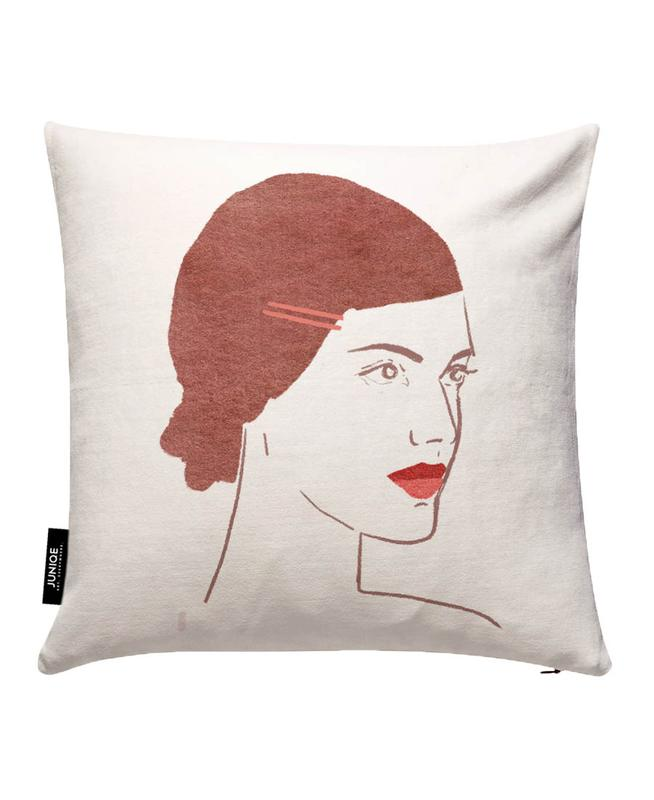 Girl With Hairclip Cushion Cover