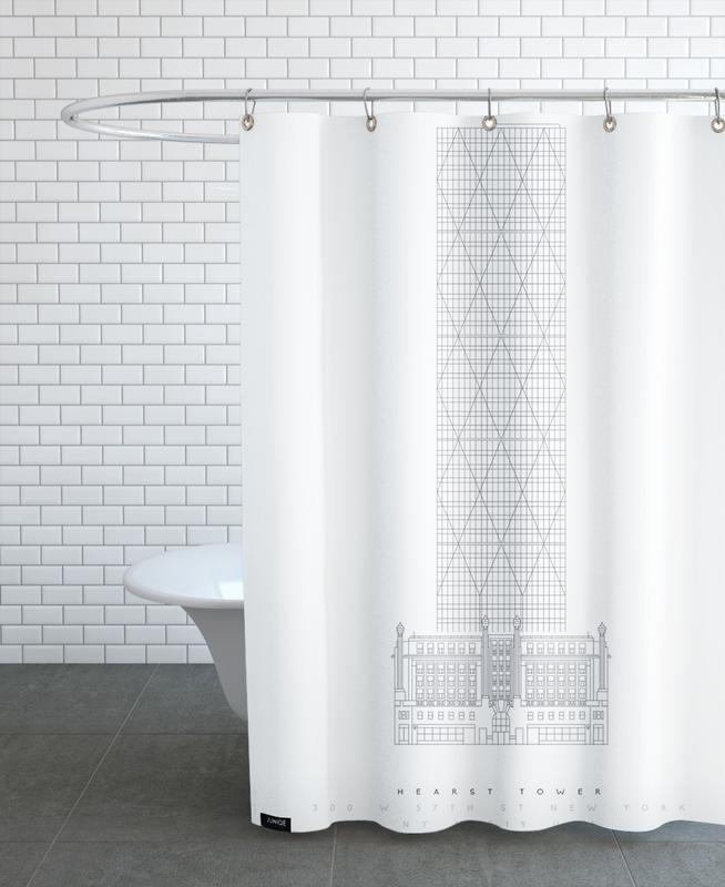 Gratte-ciels, Monuments et vues, Hearst Tower rideau de douche
