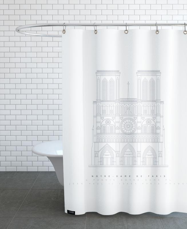 Notre Dame Shower Curtain