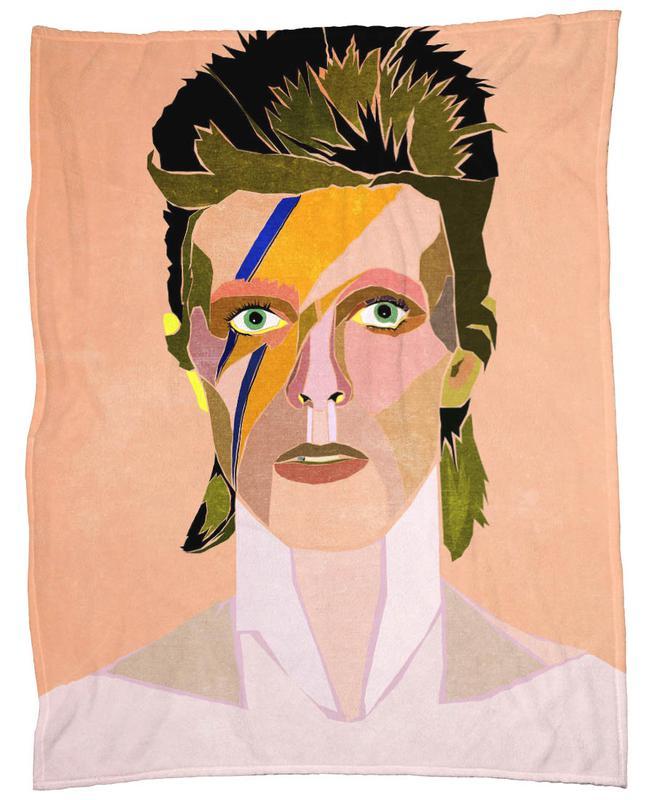 David Bowie Portrait -Fleecedecke