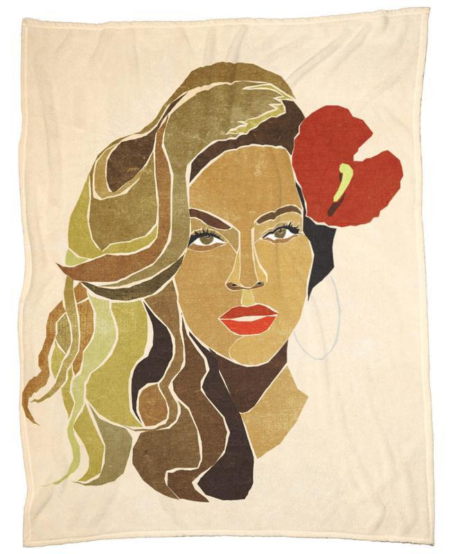 Beyoncé Portrait -Fleecedecke