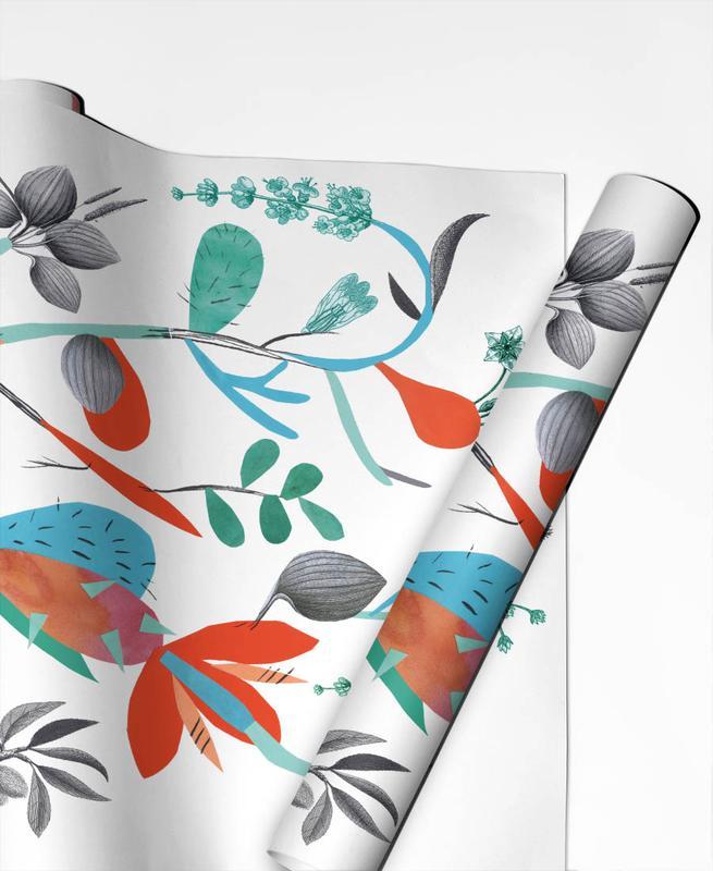 , Botanica Orange papier cadeau