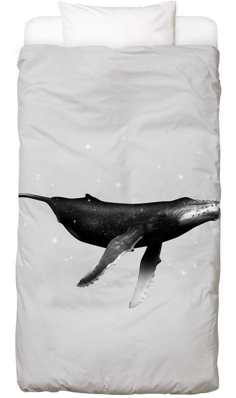 Walvissen, Zwart en wit, Kunst voor kinderen, Whale kinderbeddengoed