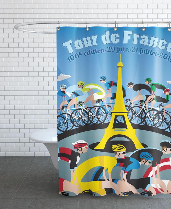 Tour de France Shower Curtain