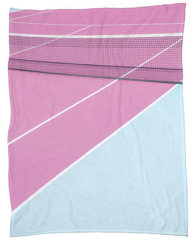 Pink Court - Net Fleece Blanket