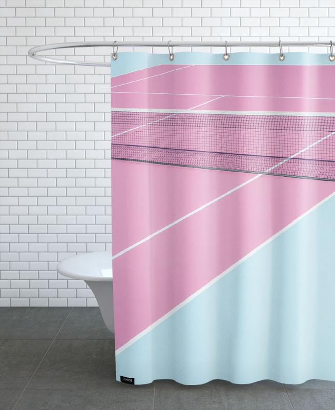 Pink Court - Net Shower Curtain