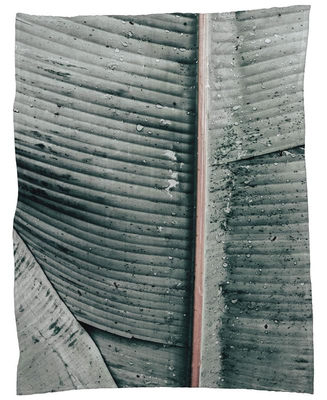 Beach Palm Patterns 8 Fleece Blanket
