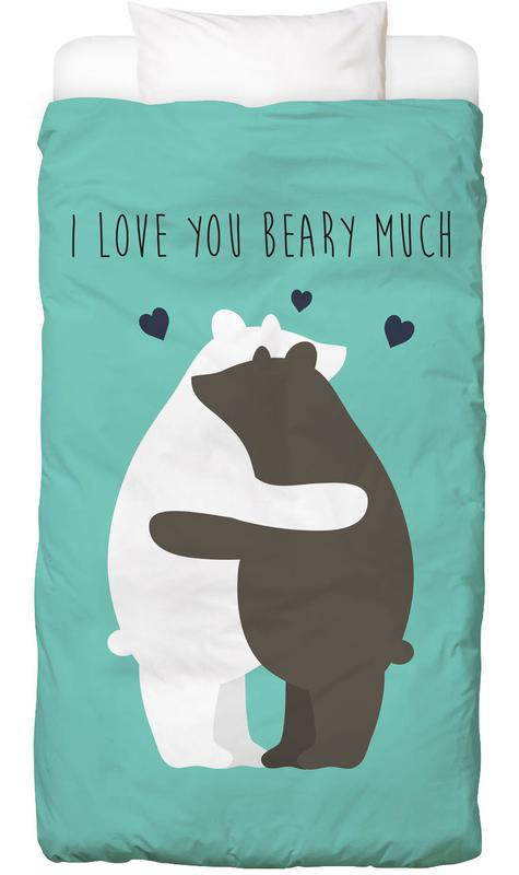 I Love You Beary Much -Kinderbettwäsche