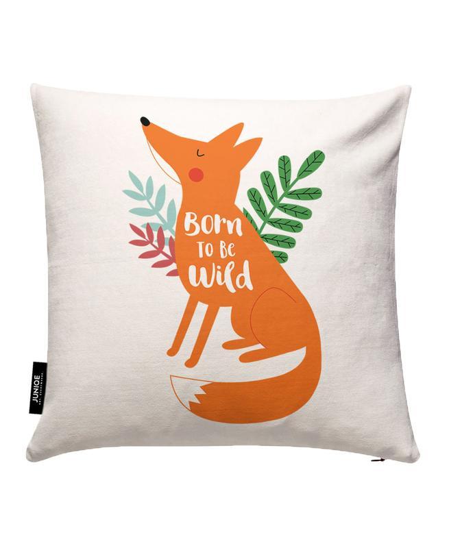 Born to Be Wild Fox Cushion Cover