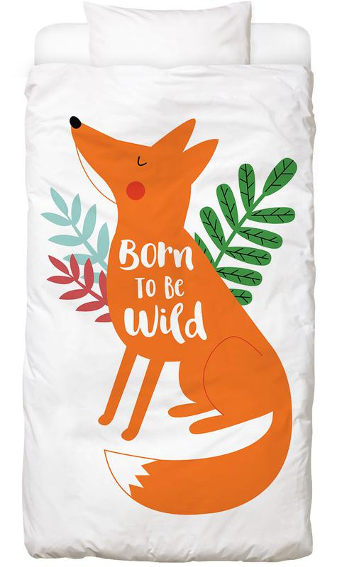 Born to Be Wild Fox -Kinderbettwäsche