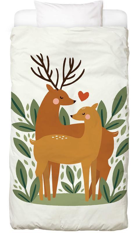 Deer Love -Kinderbettwäsche
