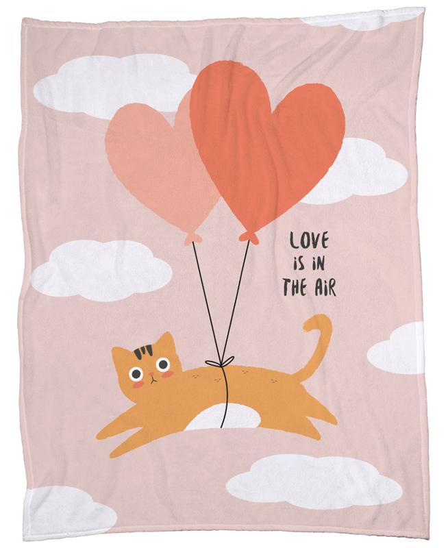Love Is in the Air Fleece Blanket