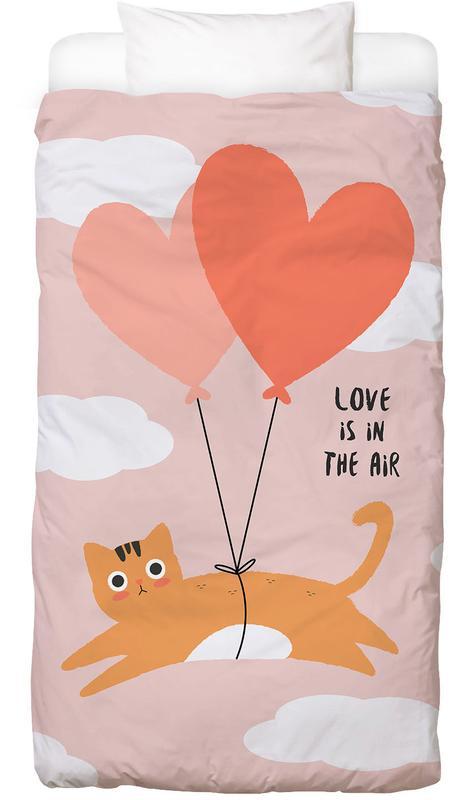 Anniversaires de mariage et amour, Chats, Saint-Valentin, Citations d'amour, Love Is in the Air housse de couette enfant