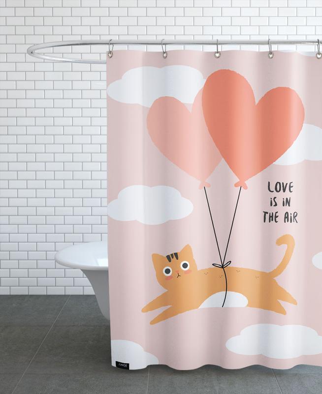 Anniversaires de mariage et amour, Saint-Valentin, Chats, Citations d'amour, Love Is in the Air rideau de douche