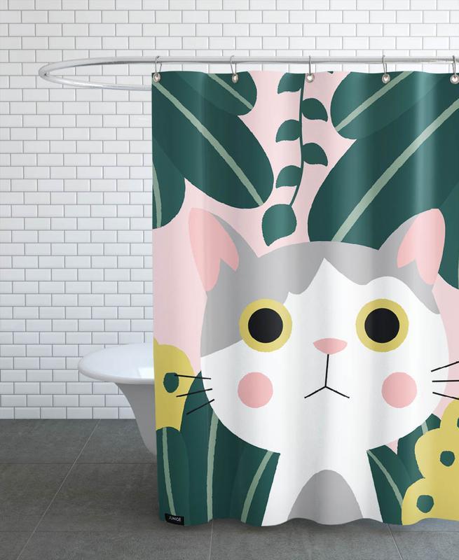 Chats, Art pour enfants, Jungle Cat rideau de douche