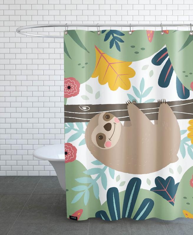Kinderzimmer & Kunst für Kinder, Faultiere, Sloth -Duschvorhang