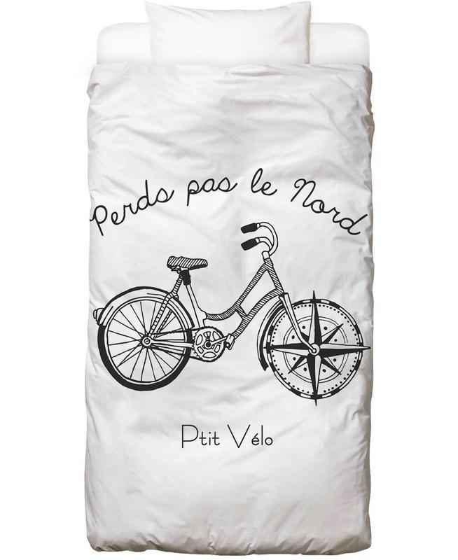 Bicycles, Travel, Black & White, Perds Par Le Nord Noir Bed Linen