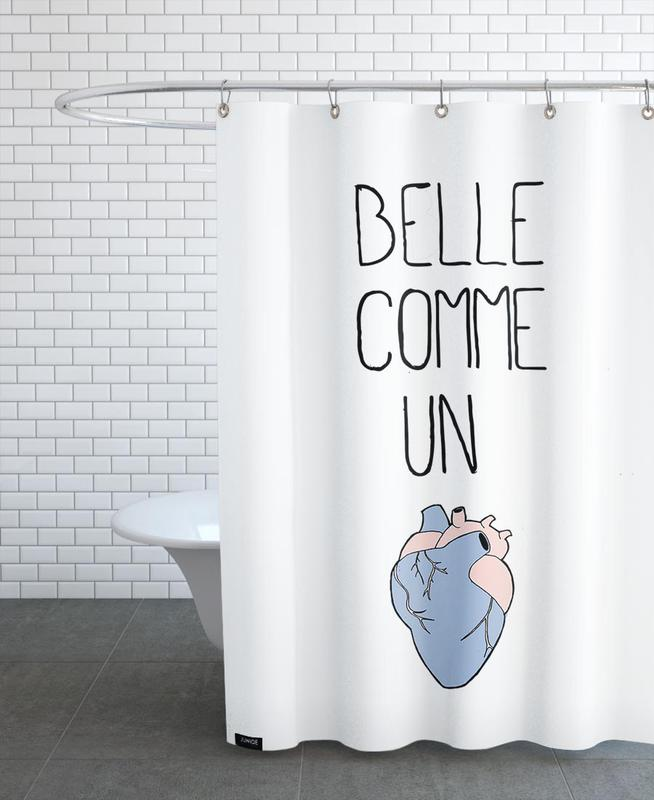 Belle cœur Shower Curtain
