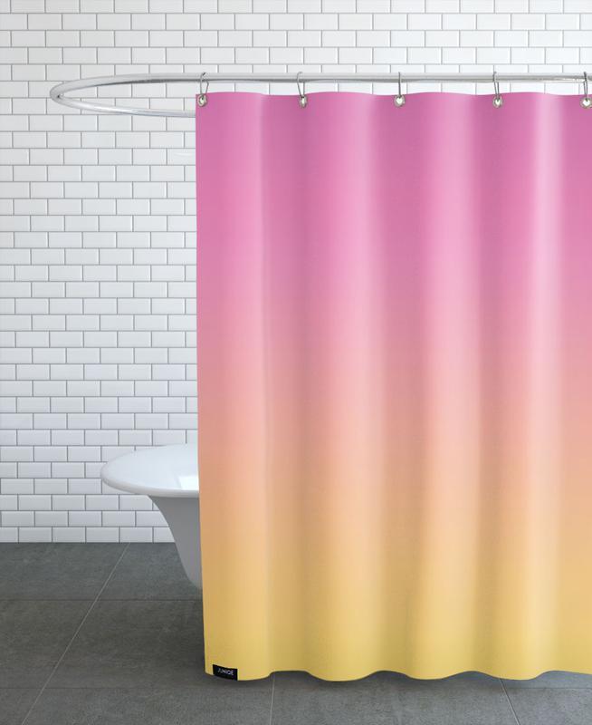 A Flamingo Sunset Shower Curtain