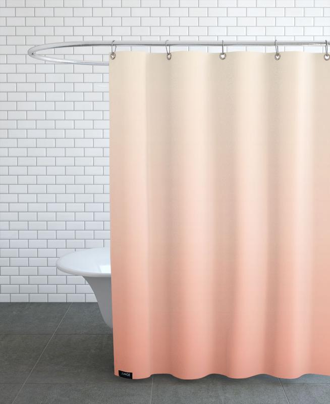, Peachy Peach Shower Curtain