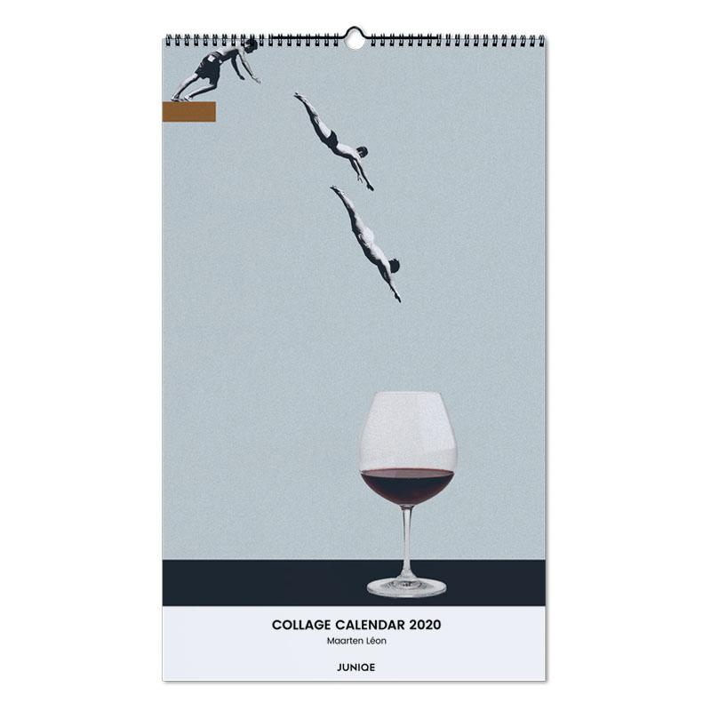 Collage Calendar 2020 - Maarten Léon Wall Calendar