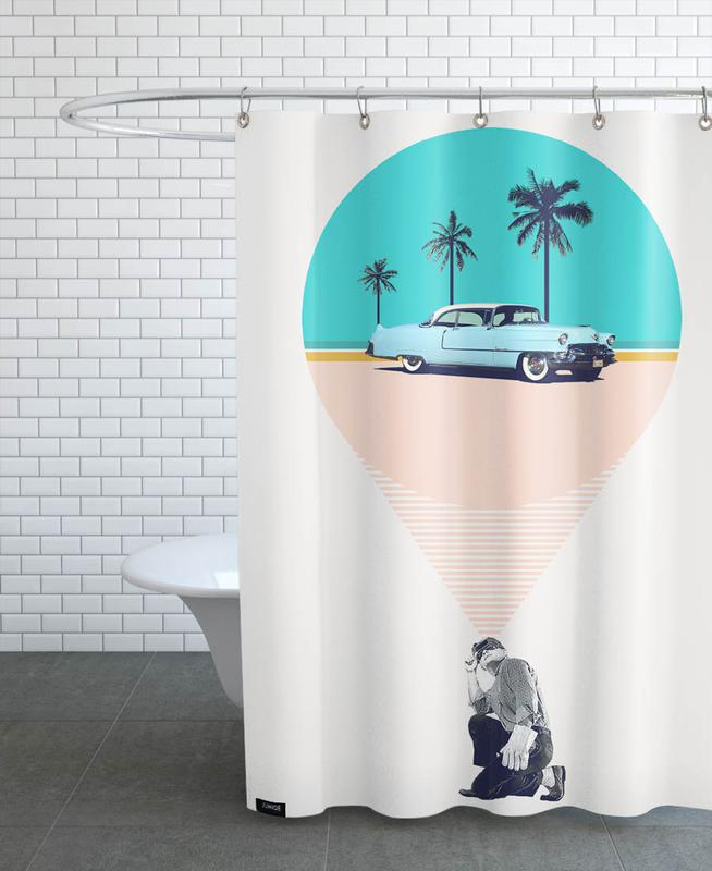 F is for Future Possibilities Shower Curtain