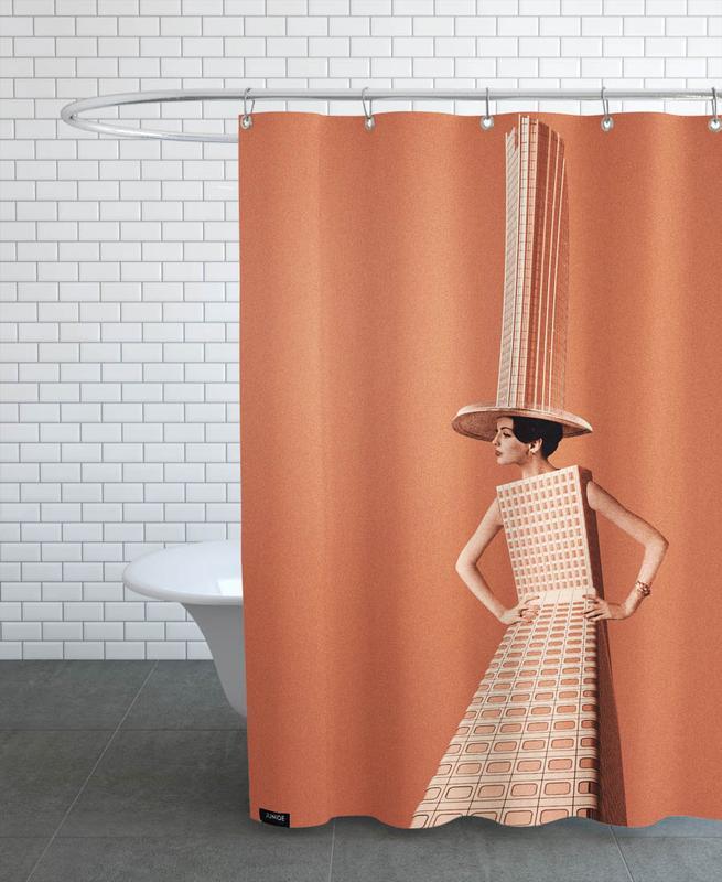 Architekturdetails, City Girl -Duschvorhang