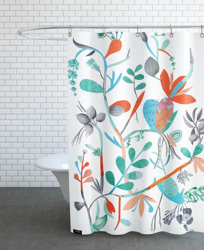 Botanica Orange Shower Curtain