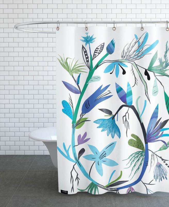 Botanica Clematis White rideau de douche