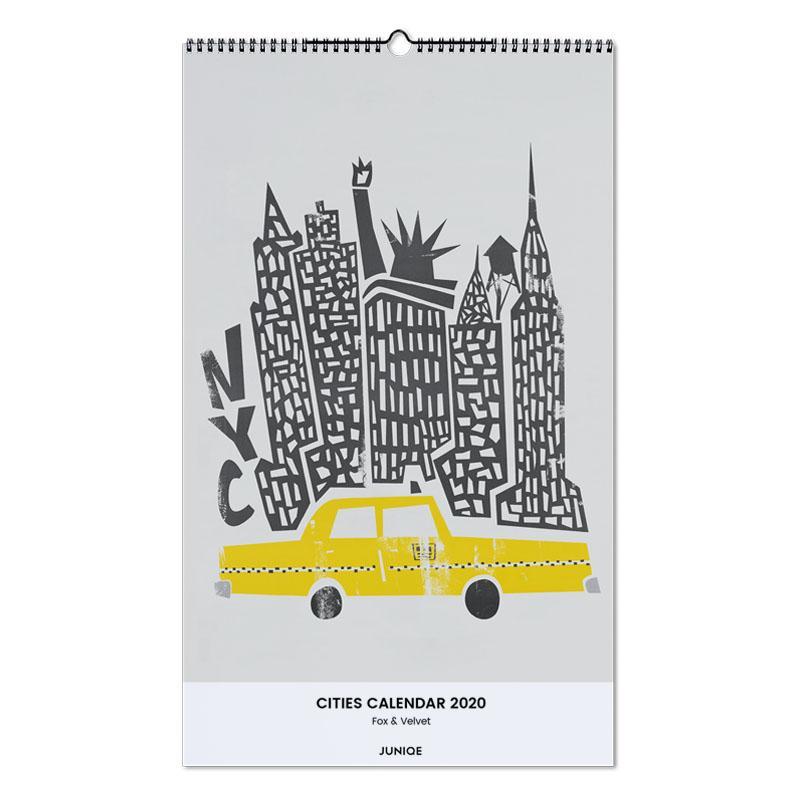 Cities Calendar 2020 - Fox & Velvet -Wandkalender
