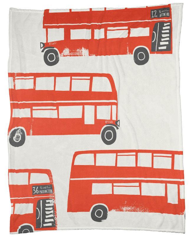 London Busses -Fleecedecke