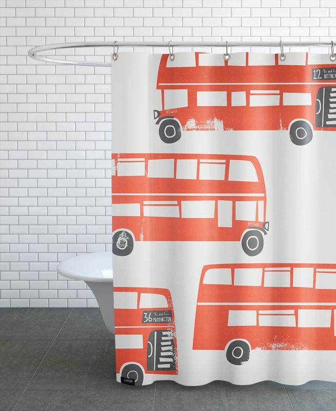 London Busses Shower Curtain
