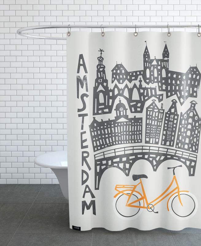 Amsterdam, Amsterdam Cityscape rideau de douche