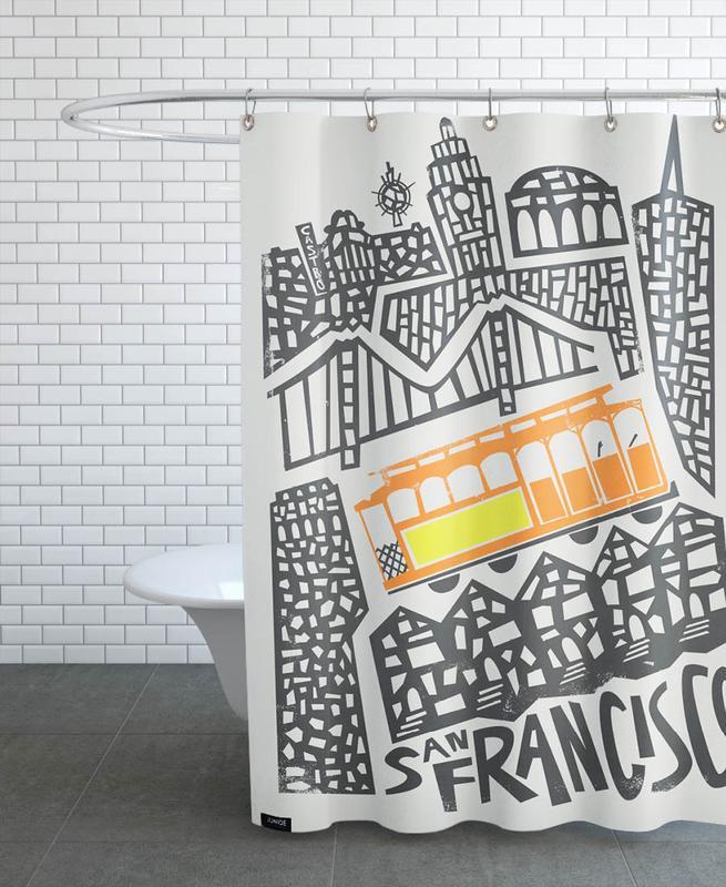 San Francisco, San Francisco Cityscape rideau de douche