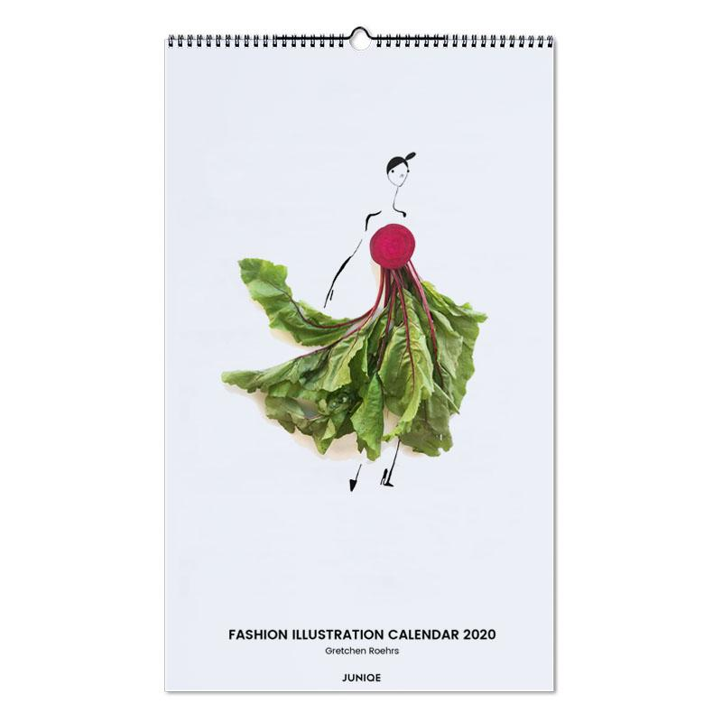 Fashion Illustration Calendar 2020 - Gretchen Roehrs Wall Calendar