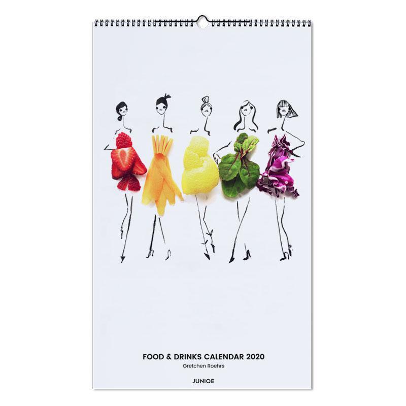 Food & Drinks Calendar 2020 - Gretchen Roehrs -Wandkalender