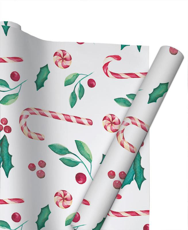 Christmas, Mistle Candy Gift Wrap