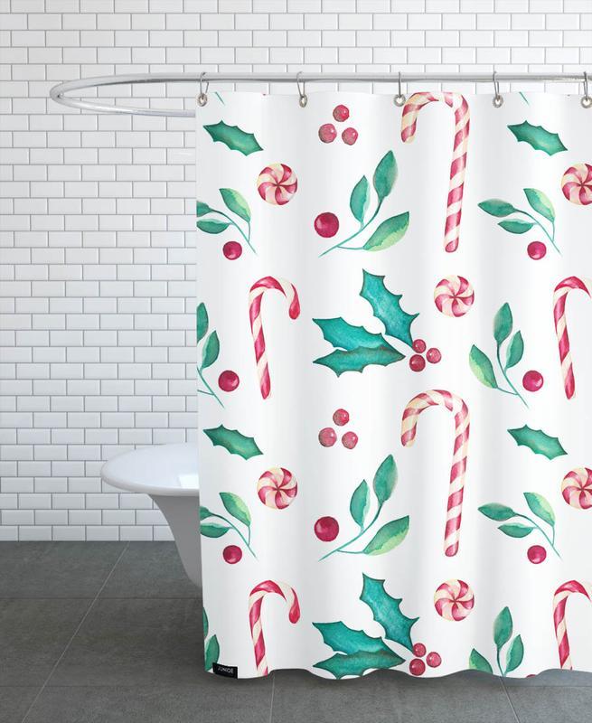 Weihnachten, Mistle Candy -Duschvorhang
