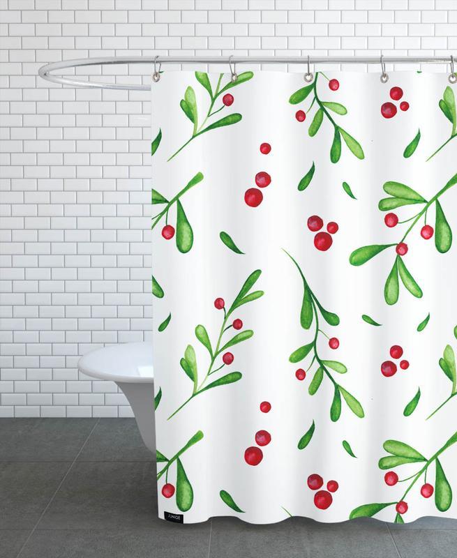 Weihnachten, Mistle -Duschvorhang
