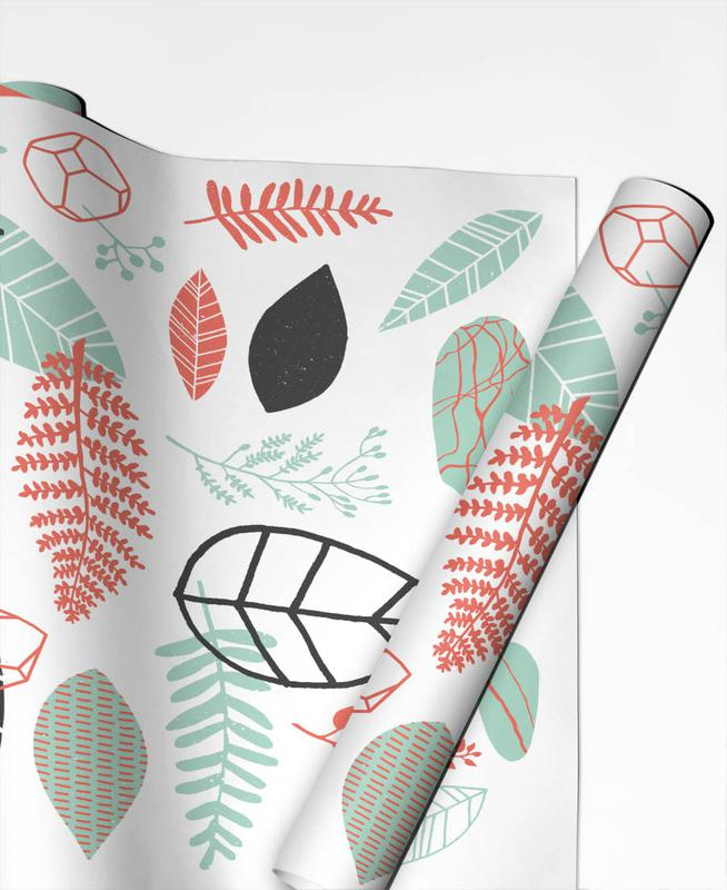 Leaves & Plants, Nature is Taking Over Mint Gift Wrap
