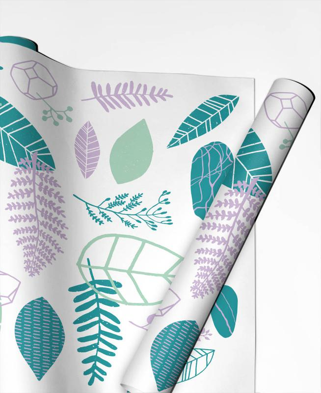 Leaves & Plants, Nature Is Taking Over Purple Gift Wrap