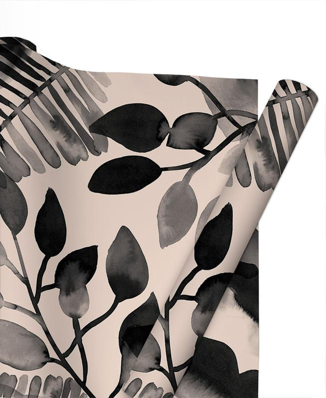 Feuilles & Plantes, Motifs, Leaves - Pink papier cadeau