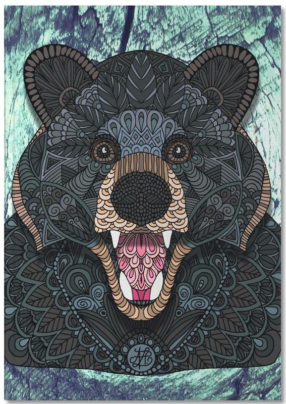 Ours, Ornate Black Bear Notebook