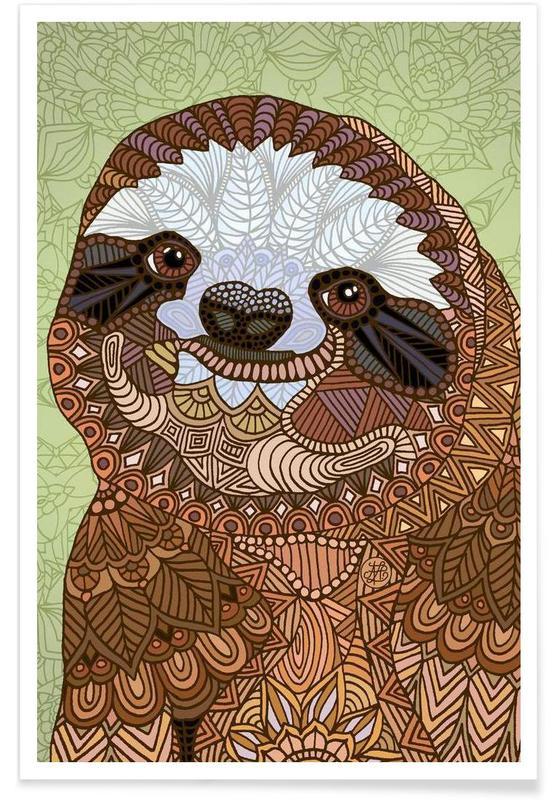 Dovendyr, Smiling Sloth Plakat
