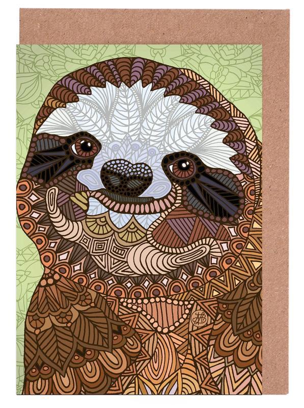 Smiling Sloth Greeting Card Set